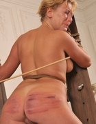 Bound naked to the punishment