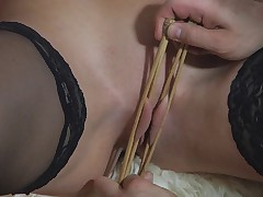Pretty girl falls in love to the cruel doctor and becomes his slave girl.