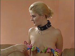Tortures and humiliations solve the problems between hot blonde girl and her..
