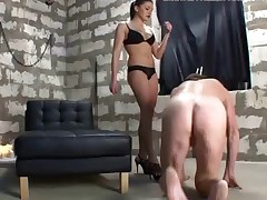 Feeling that her slave really deserves a good warmup before getting access to..