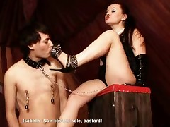 Mistress Isabella has just got herself a brand-new strap-on and it means that..