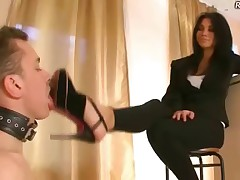 A slave like this is a must-have for a smoking mistress – he will always be..