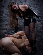 Pissing on slave's face