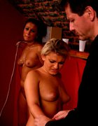 Hot blonde brutally caned on her firm ripe ass, pic #1