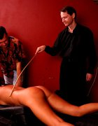 Hot blonde brutally caned on her firm ripe ass, pic #11