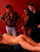 Hot blonde brutally caned on her firm ripe ass, pic #5