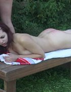 Naked serf girl birched on the bare, pic #9