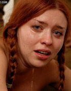 Pigtailed russian redhead bound, pic #11