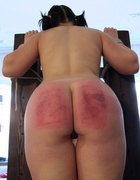 Two Russian girl bottoms beaten, pic #6