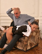 Spanked OTK for cheating at school, pic #11