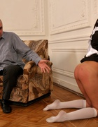 Spanked OTK for cheating at school, pic #13