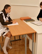 Spanked OTK for cheating at school, pic #2