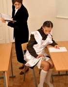 Spanked OTK for cheating at school, pic #4