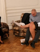 Spanked OTK for cheating at school, pic #9