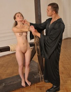 Girl humiliated and caned severely, pic #11