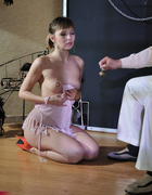 Bound girl fucked, pic #3