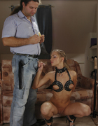 Leather blonde fucked, pic #8