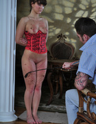 Girl in corset spanked, pic #11