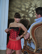 Girl in corset spanked, pic #2