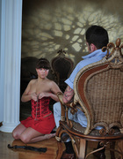 Girl in corset spanked, pic #4