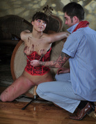 Girl in corset spanked, pic #9