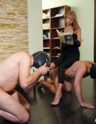 Submissive freaks share Mistress, pic #1