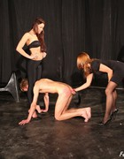 Bossy ladies training slave, pic #11