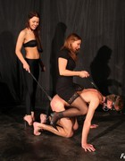 Bossy ladies training slave, pic #12