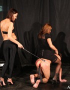 Bossy ladies training slave, pic #13