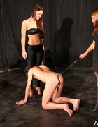 Bossy ladies training slave, pic #14