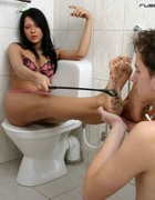 Slave licks filthy feet, pic #8