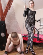 Very painful femdom CBT, pic #1
