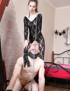 Very painful femdom CBT, pic #6