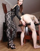 Very painful femdom CBT, pic #10