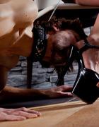 Curvy Mistress, skinny slave, pic #3